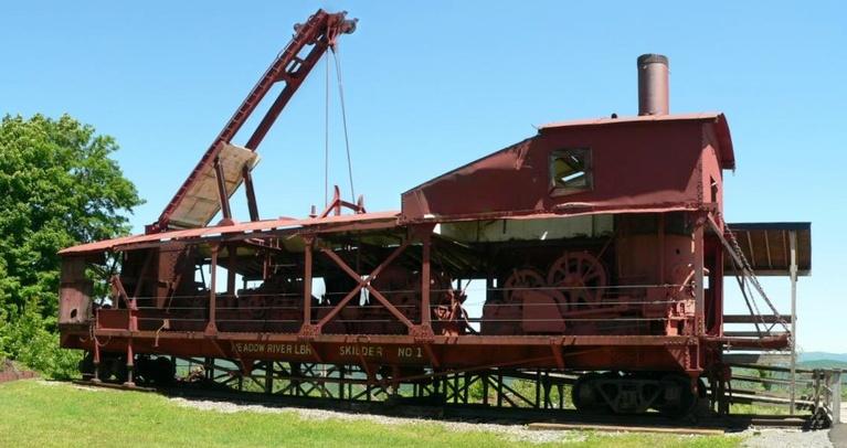 Steam Skidder at Whitaker Station