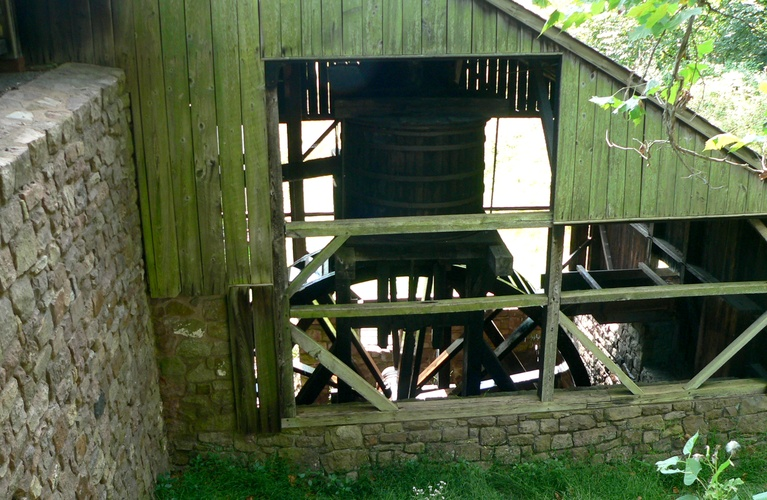 Furnace Bellows Driven by Water Wheel