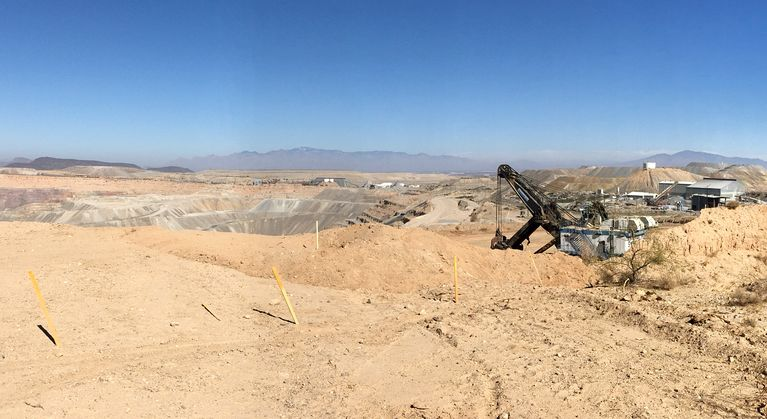 Open Pit Copper Mine and Shovel