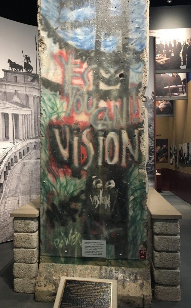 Section of the Berlin Wall Given to Bush Library