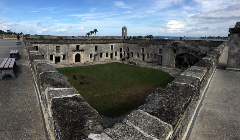 Courtyard at the Castillo de San Marcos