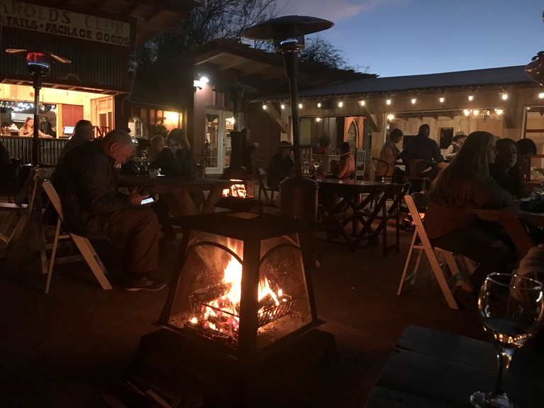 Dinner and a Fire at Windmill Hill Winery